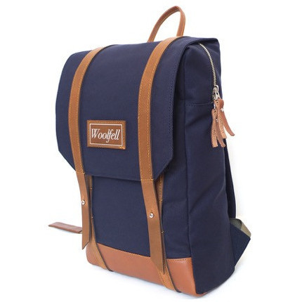 WOOLFELL - SAC À DOS WARRIOR - MARINE & TAN