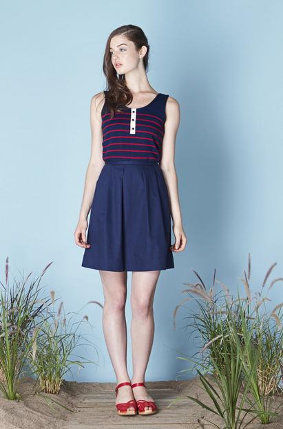 Betina Lou Clodelle Marine Skirt