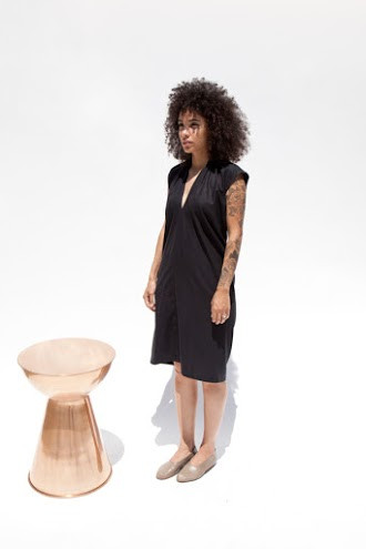 Miranda Bennett Everyday Dress, Silk Noil in Black