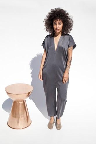 Miranda Bennett Everyday Jumpsuit, Silk Charmeuse in Slate