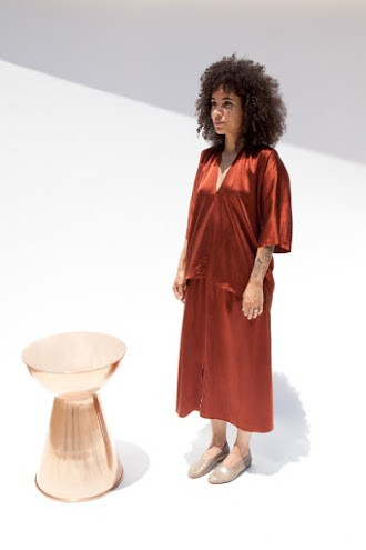 Miranda Bennett Muse Top, Silk Charmeuse in Claret