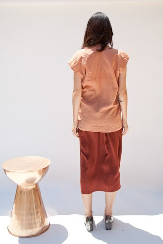 Miranda Bennett In-Stock: Everyday Top, Cotton Gauze in Noon
