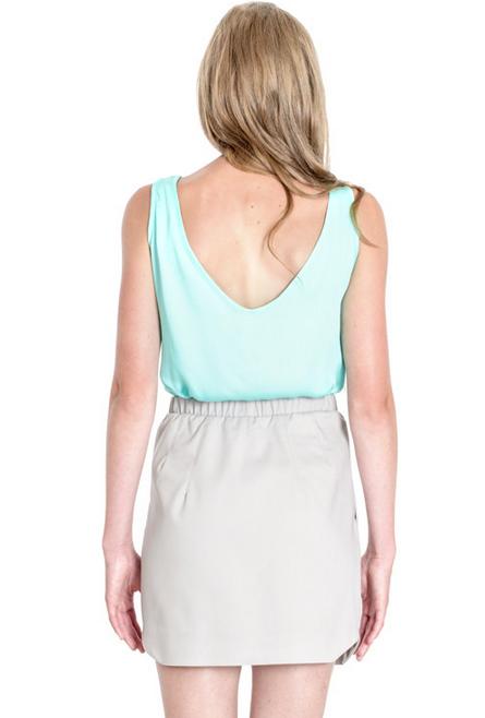 Josiane Perron Elastic Waist Skirt