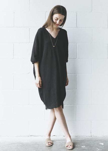 Black Crane - Origami Dress in Black