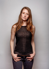 Anna Kari Eyelet Linen Tank