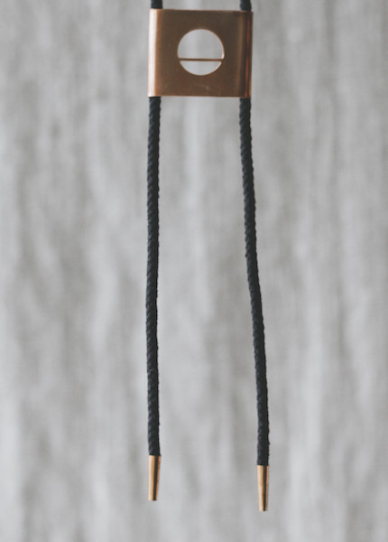 REIFhaus - Eclipse Bolo Necklace in Black