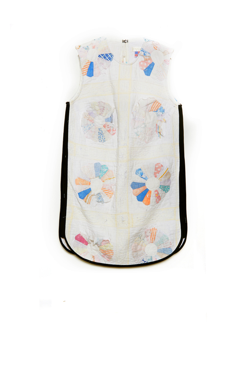 Quilted Shift Dress - White