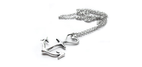 Elaine Ho - Anchor Heart necklace