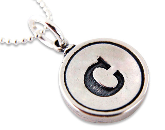 Gwen D - Silver Initial Necklace