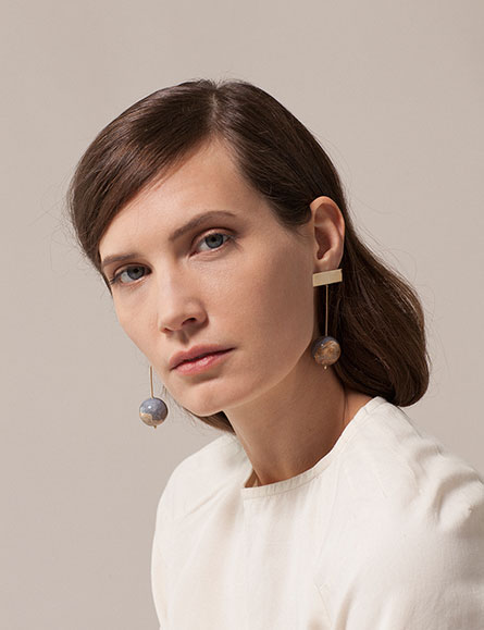 Chalcedony Drop Earrings