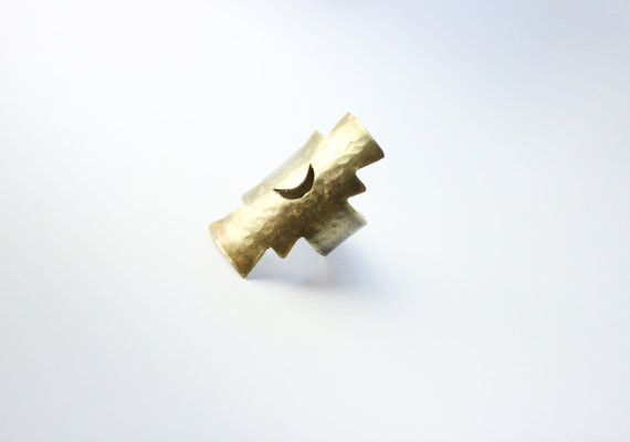 Twisted Whimsy Wolf Moon Ring