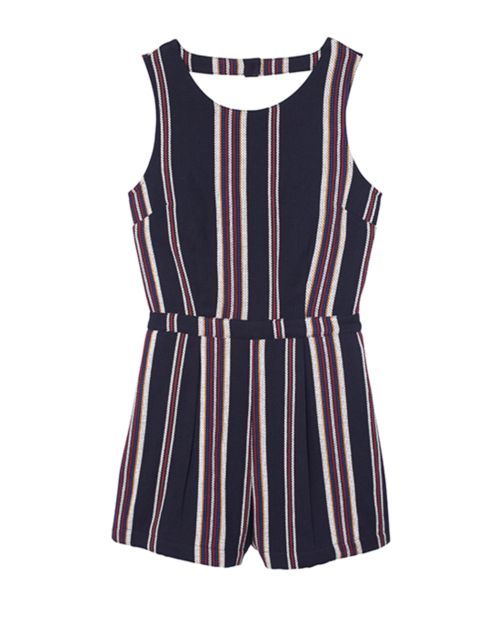 Navy Stripe Romper