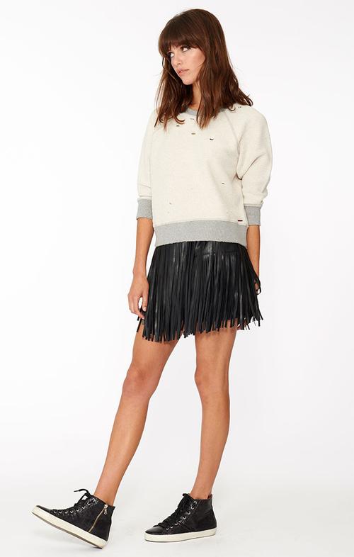 Philanthropy Clover Mini Fringe Skirt