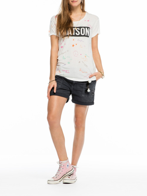Maison Scotch Embroidered Detail Short