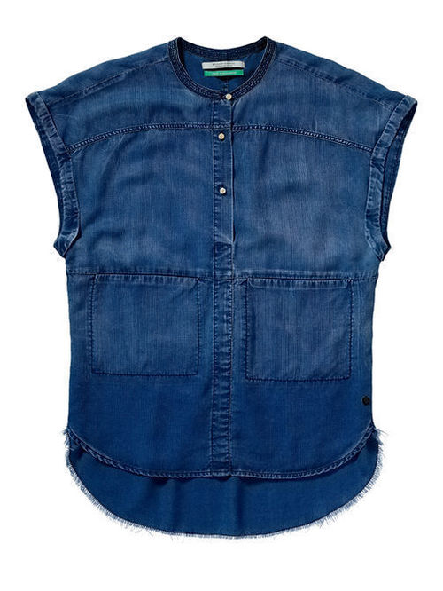 Cap Denim Tunic
