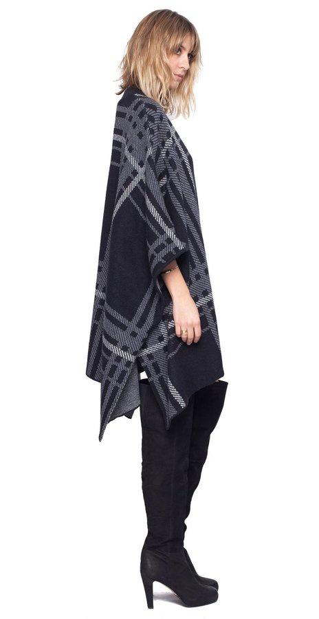 Temple Plaid Poncho