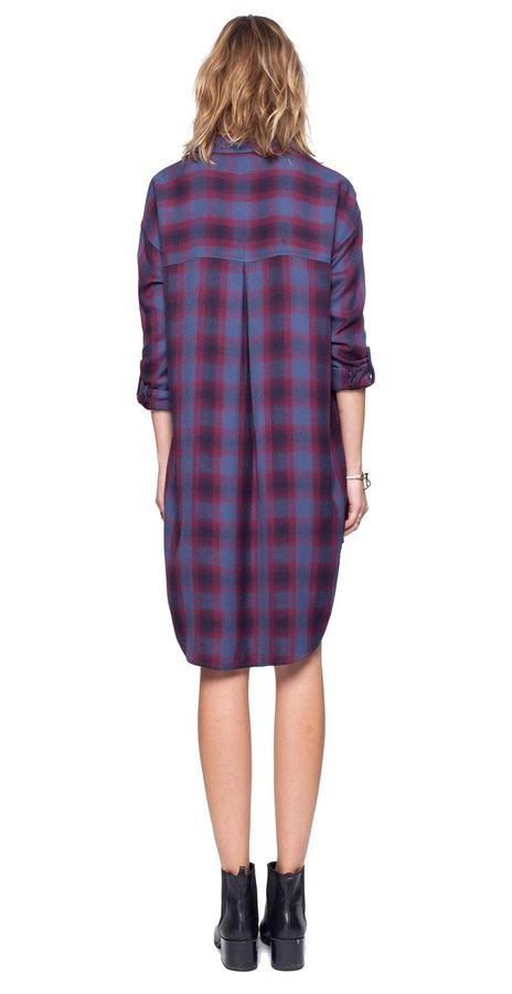 Voyage Plaid Shirt Dress