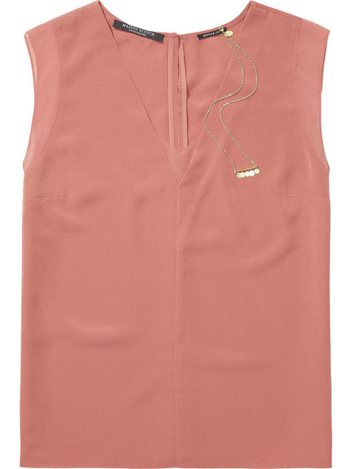 V-Sleeveless Blouse