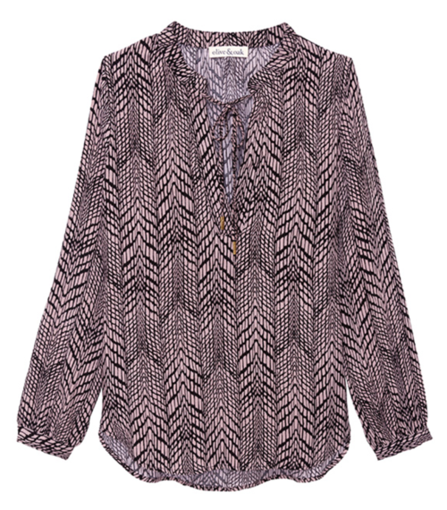Arrow Print Blouse
