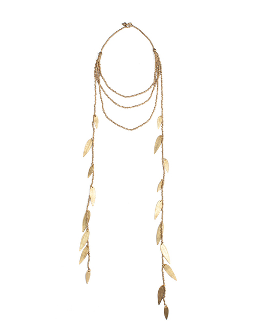 Almaz Gold Leaf Cascade Necklace
