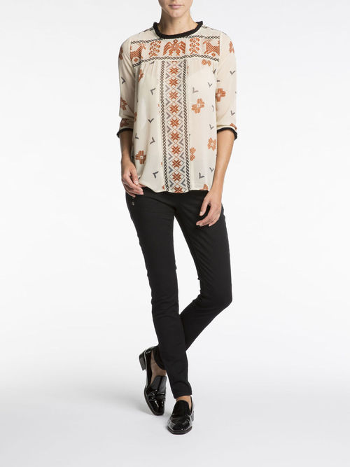 Sheer Fringe Tunic