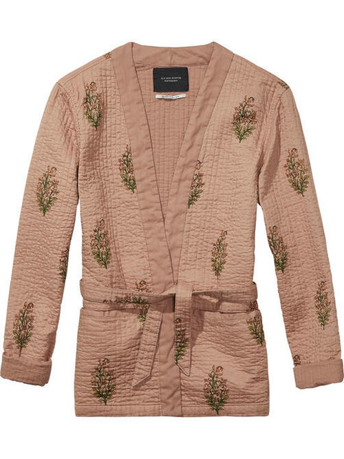 Maison Scotch Quilted Kimono