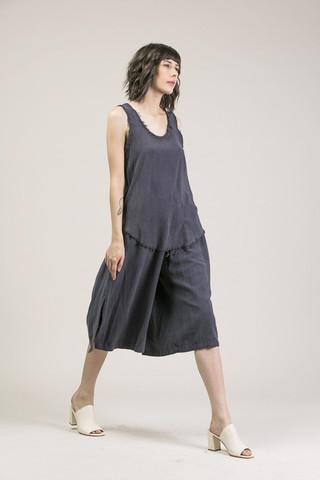 Black Crane Slit wide culotte