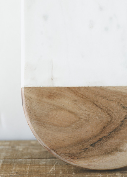 Drake General Store - Oval Marble and Wood Cheeseboard