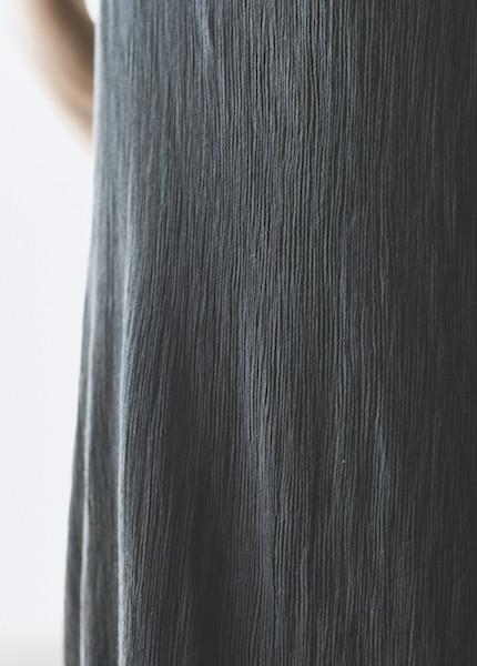 Black Crane Emma Dress in Charcoal