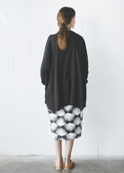 Black Crane Square Shirt in Black