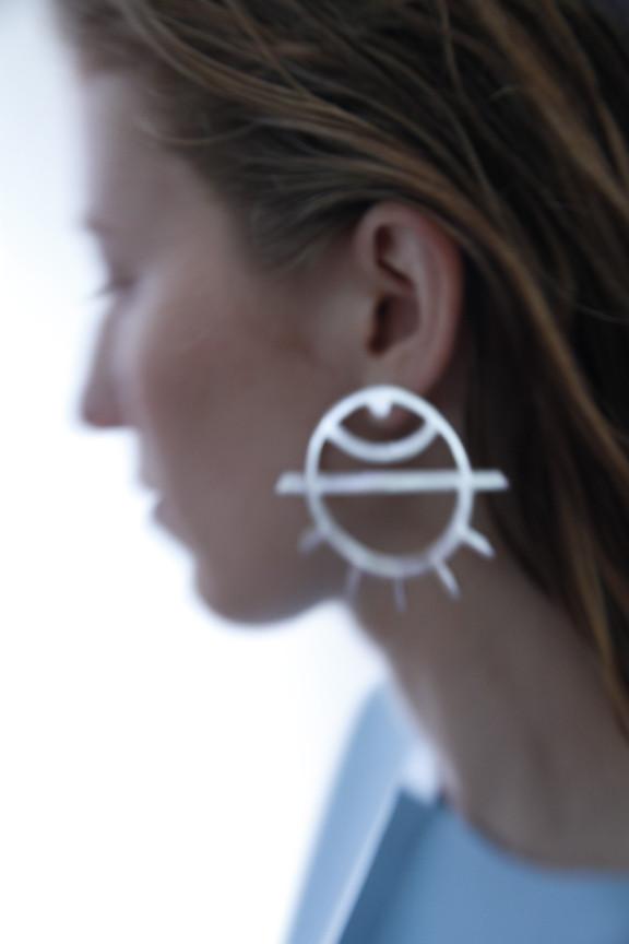 Alynne Lavigne Large Eye Earrings