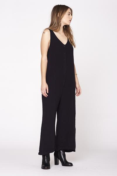 LACAUSA  Wildflower Jumpsuit- Black