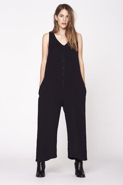 LACAUSA  Wildflower Jumpsuit- Black