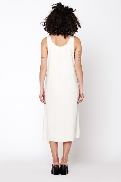 LACAUSA Reversible Raw Silk Dress- Natural