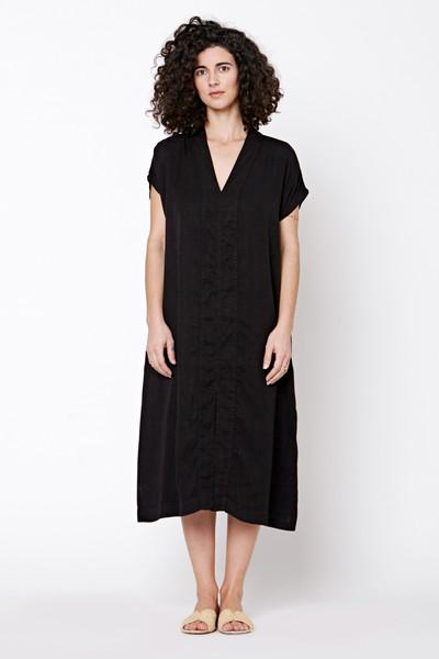 LACAUSA Yarrow Caftan Dress- Black