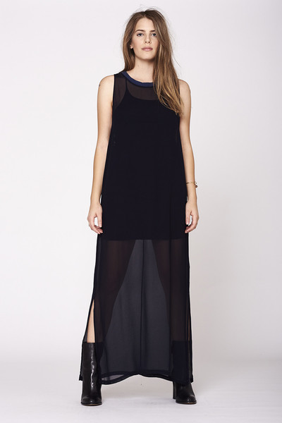 LACAUSA Dad's Shirtdress- Black