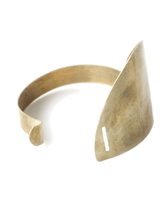 Erin Considine Elipse Cuff in Brass
