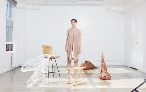 Atelier Delphine Crescent Dress - Dusty Coral