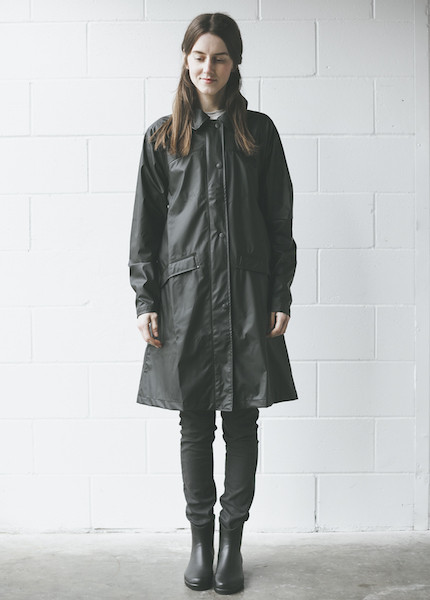 Rains - Bell Jacket in Black