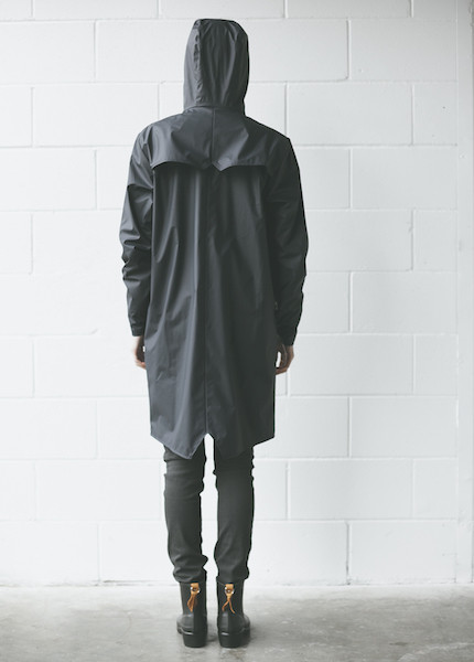 Rains - Long Jacket in Blue