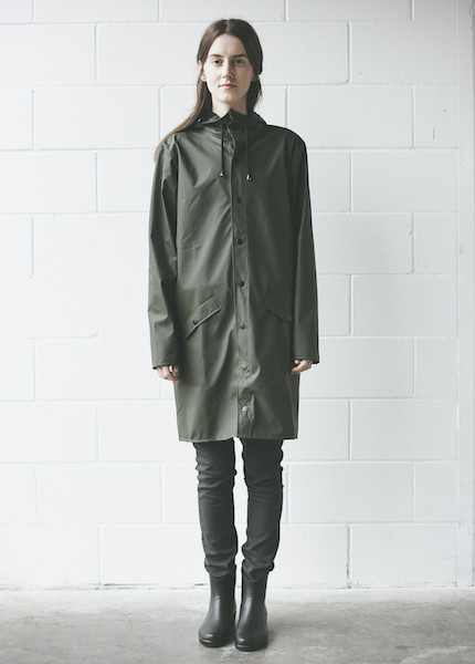 Rains - Long Jacket in Green