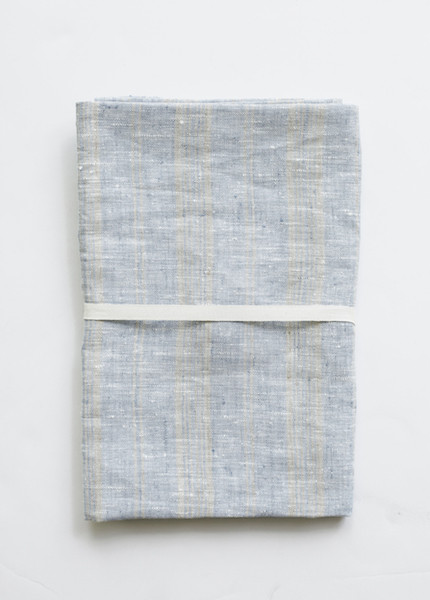 Le Fil Rouge - Bath Sheet in Blue/Natural Stripe