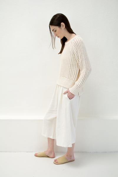 Micaela Greg Chain Sweater - Cream
