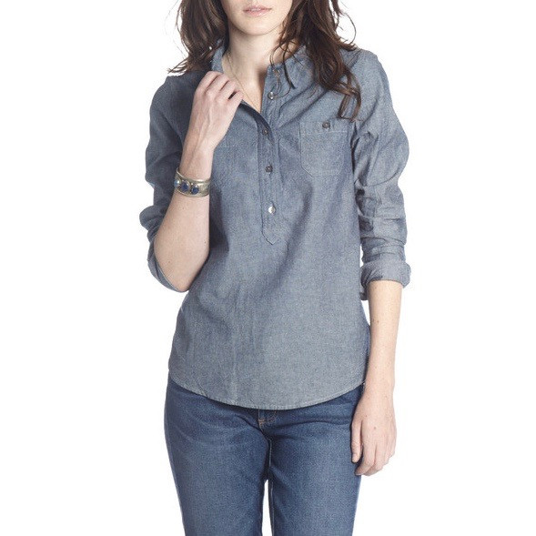 Crawford Denim Chambray Popover