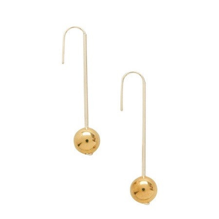 In God We Trust Saturn earrings