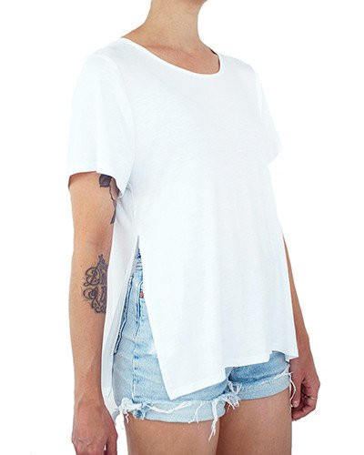 Menage A Deux High-Slit Crew Neck