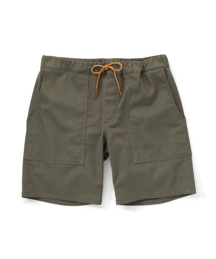 Men's Woolrich Trekker Twill Shorts Almond Surfboards