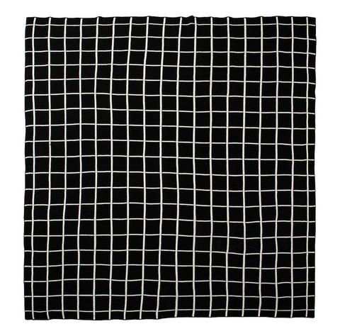 Modern Burlap Large Reversible Grid Blabjet