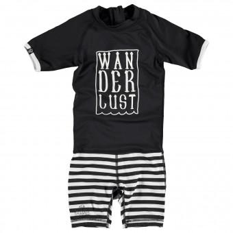 "Beach & Bandits ""Wonderluster"" One Piece Black & White Swimwear"