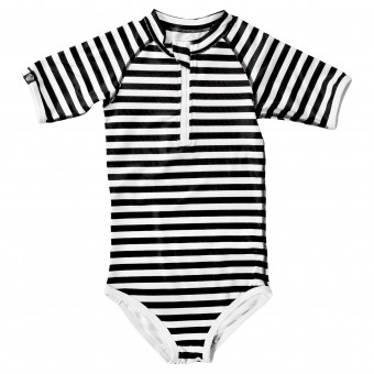 Beach & Bandits Bandit Girl Black/White Stripes Short Arms Suit